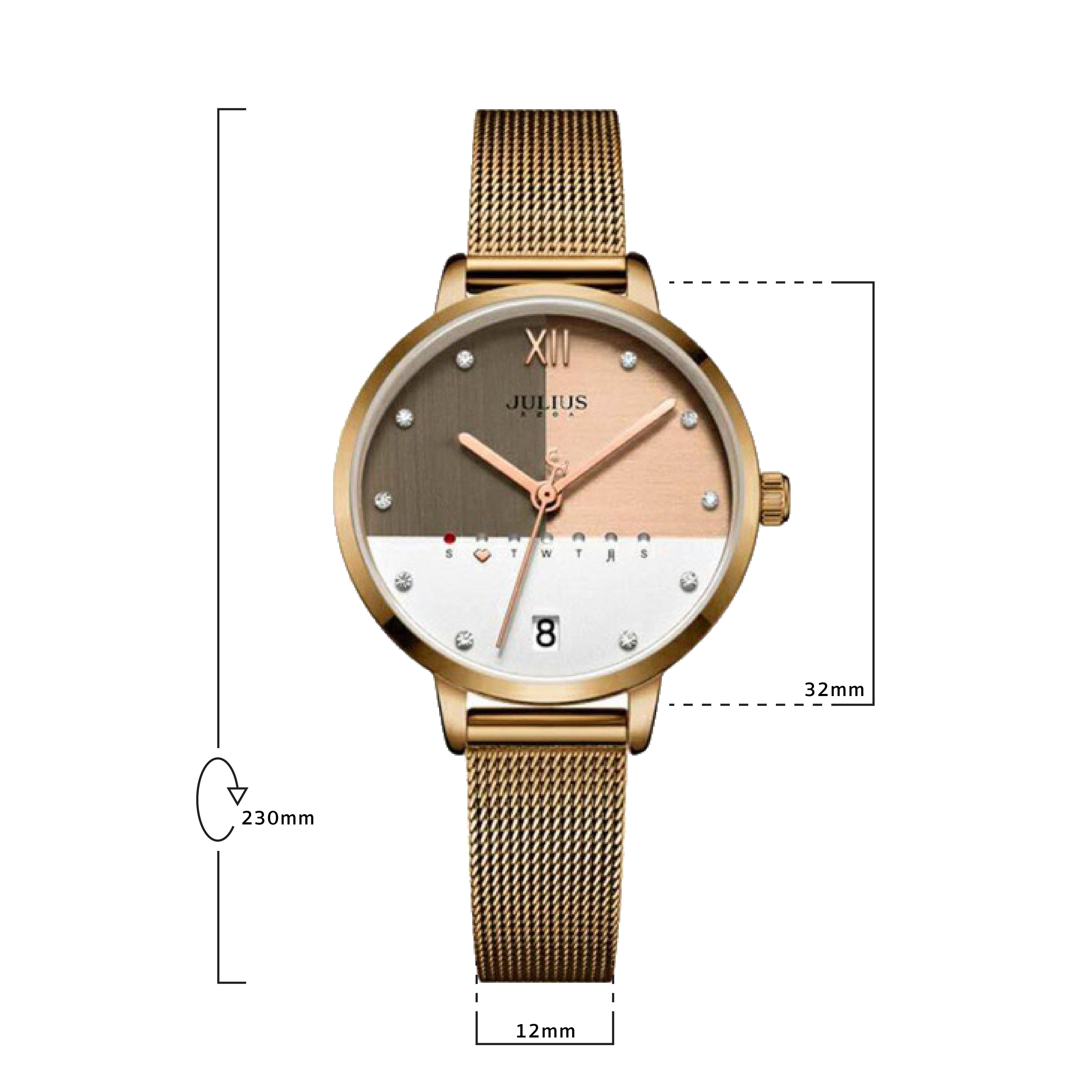 นาฬิกาข้อมือผู้หญิง JULIUS 1100E