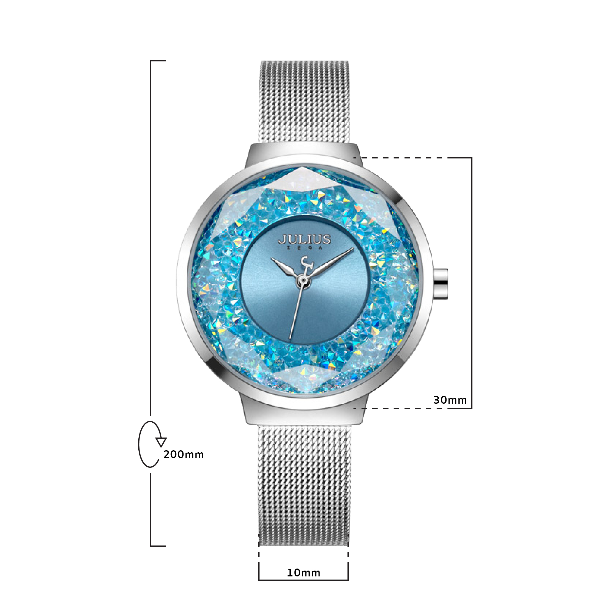 นาฬิกาข้อมือผู้หญิง JULIUS JA-1111 A