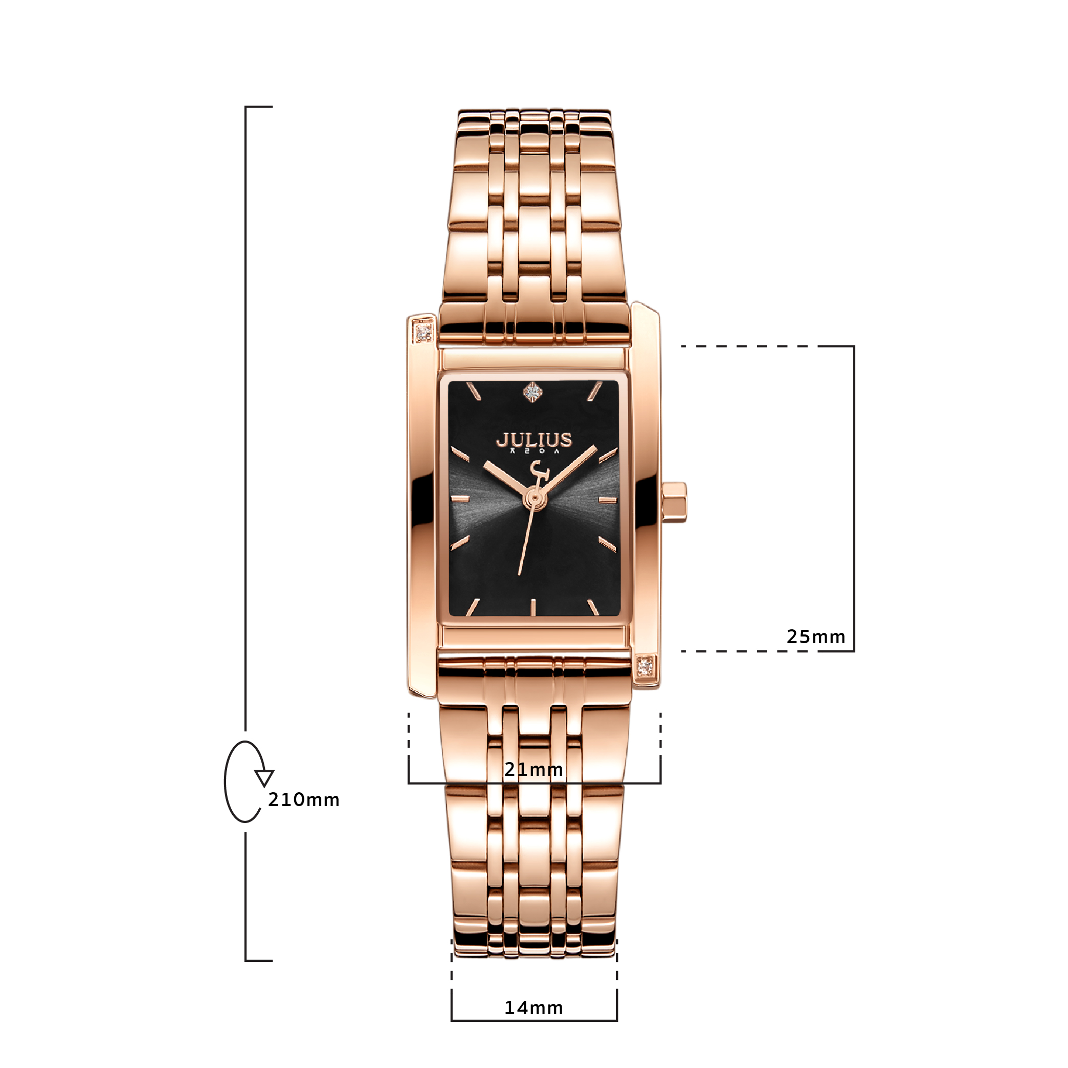 นาฬิกาข้อมือผู้หญิง  JULIUS JA-1257D