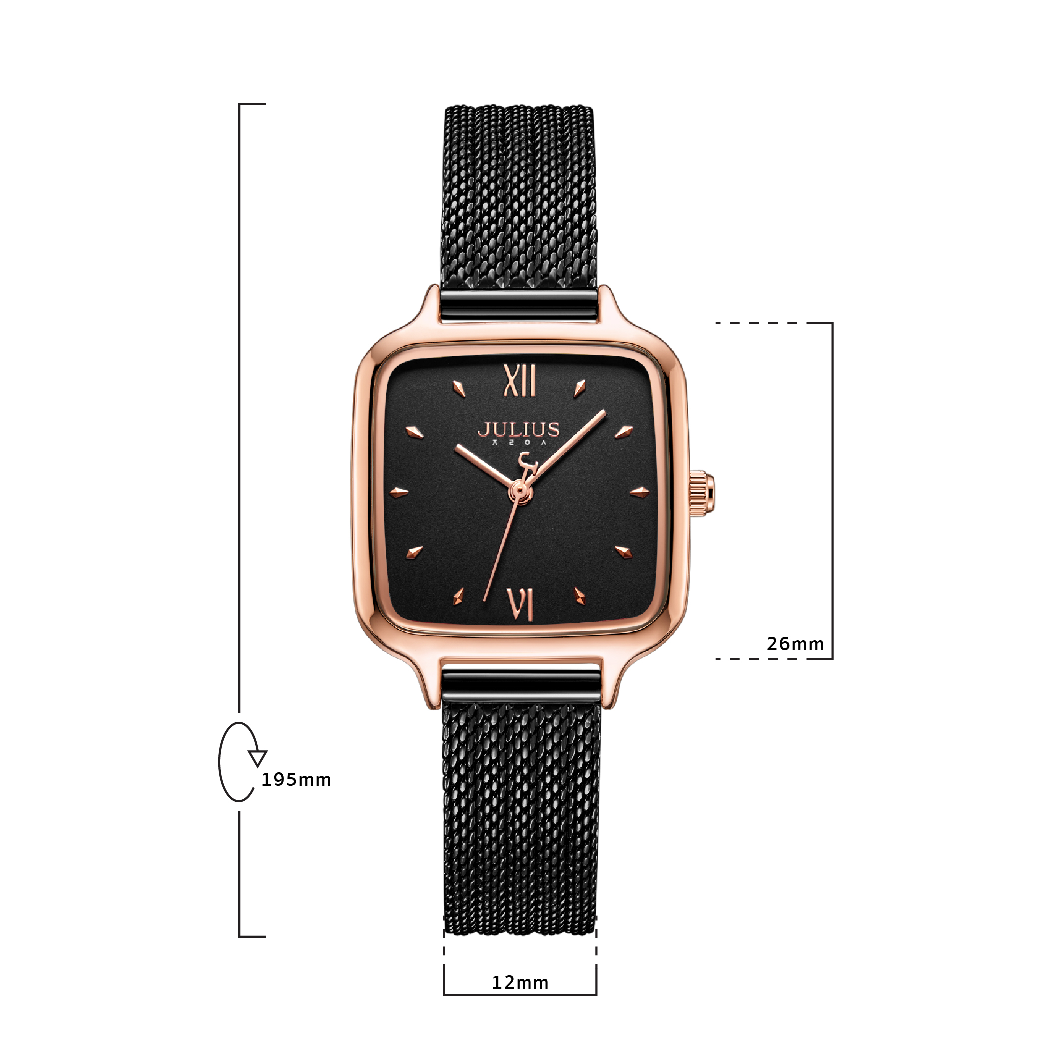 นาฬิกาข้อมือผู้หญิง  JULIUS JA-1264D