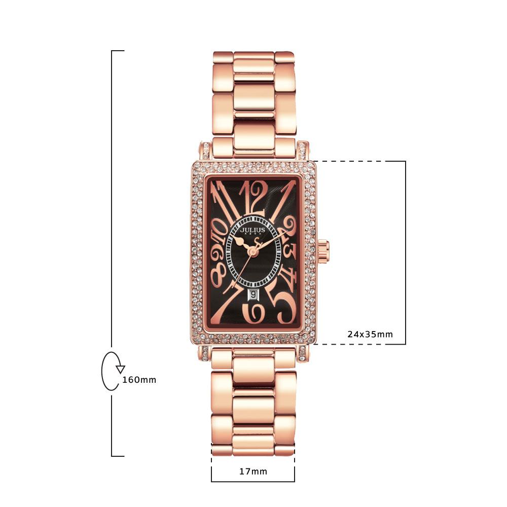 นาฬิกาข้อมือผู้หญิง JULIUS 838 E
