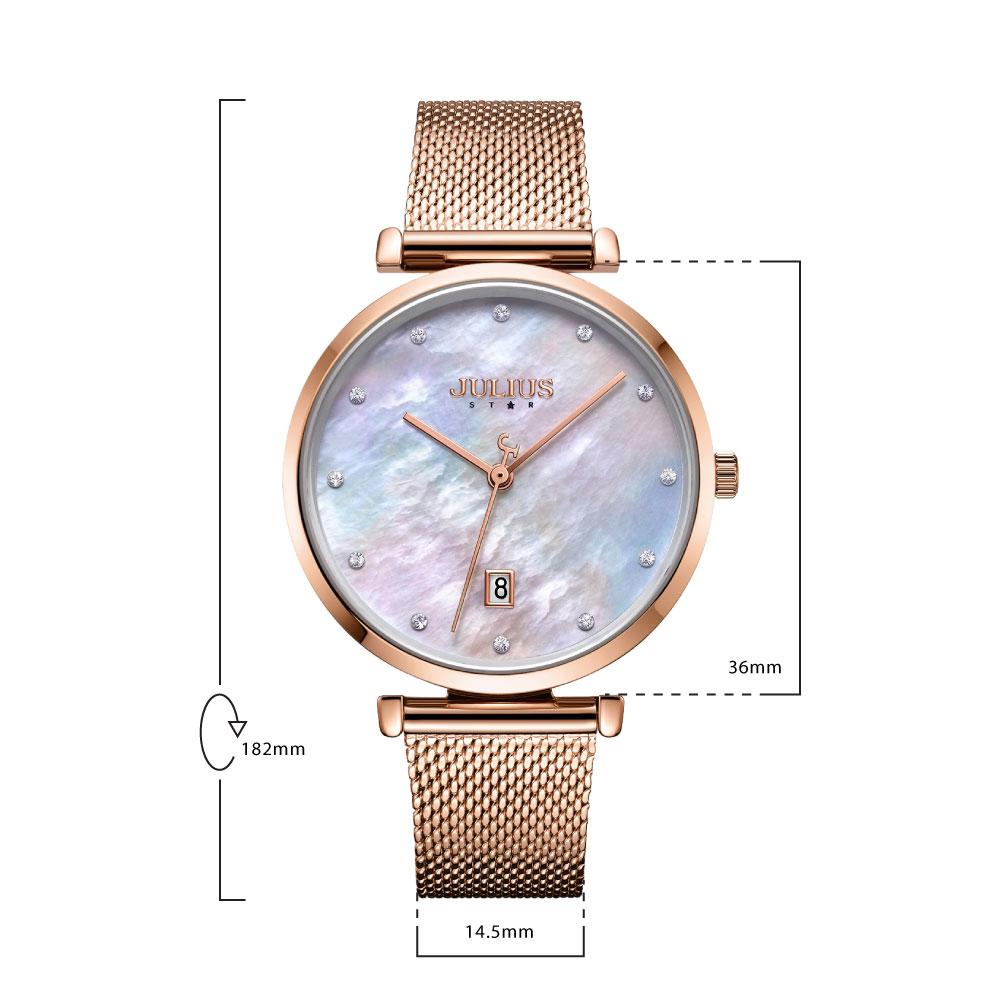 นาฬิกาข้อมือผู้หญิง JULIUS STAR 003 B
