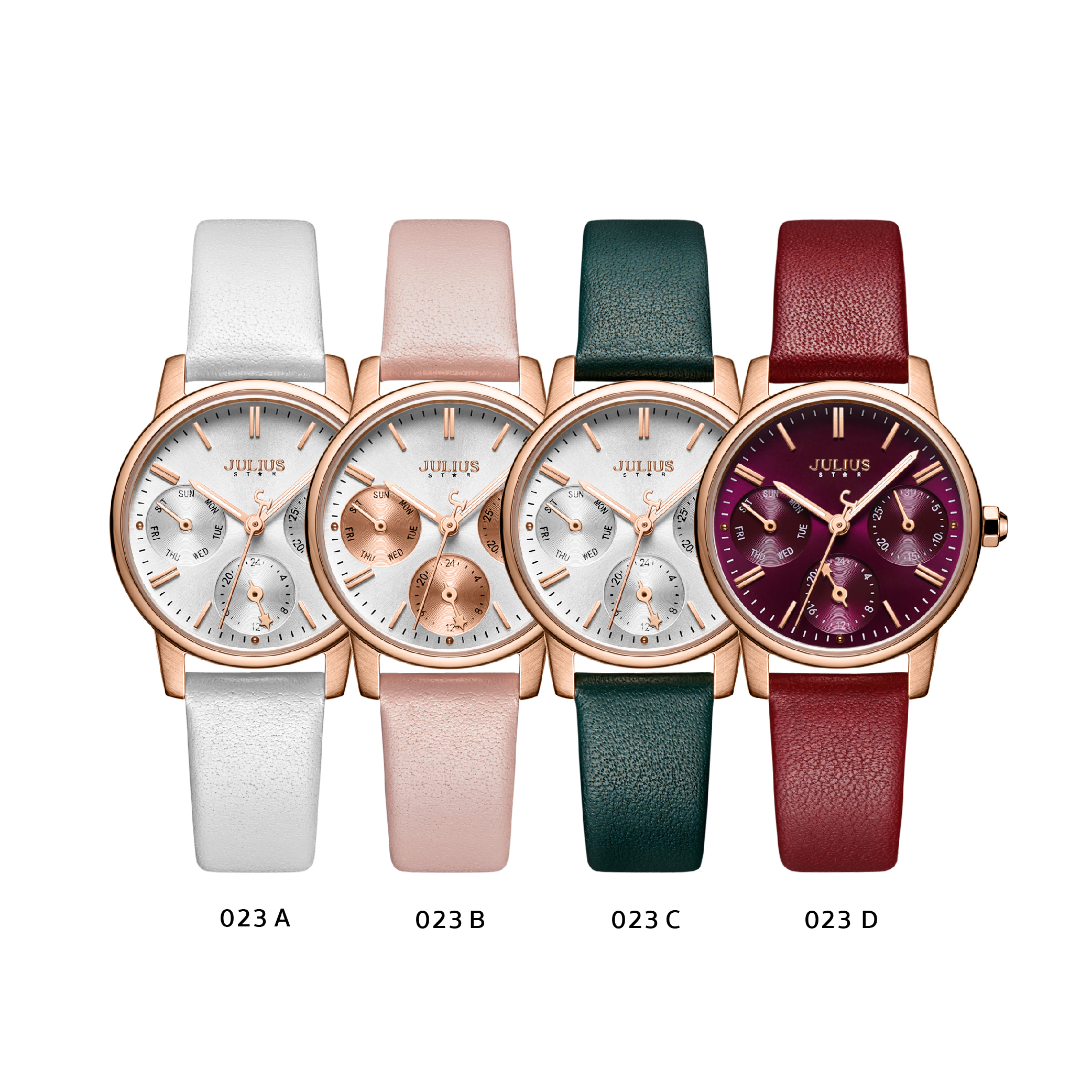 นาฬิกาข้อมือผู้หญิง JULIUS STAR JS-023 D