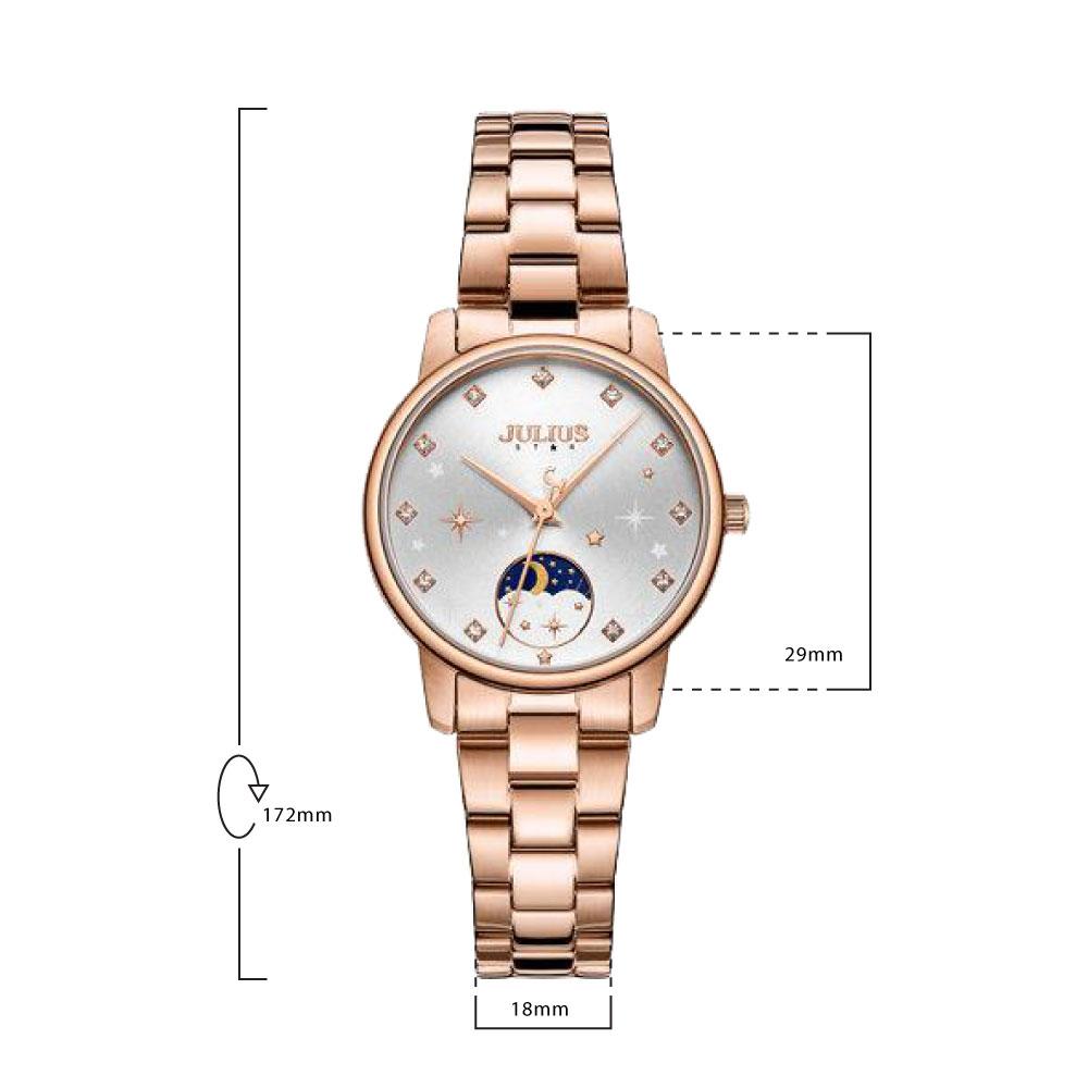 นาฬิกาข้อมือผู้หญิง JULIUS STAR 029 B