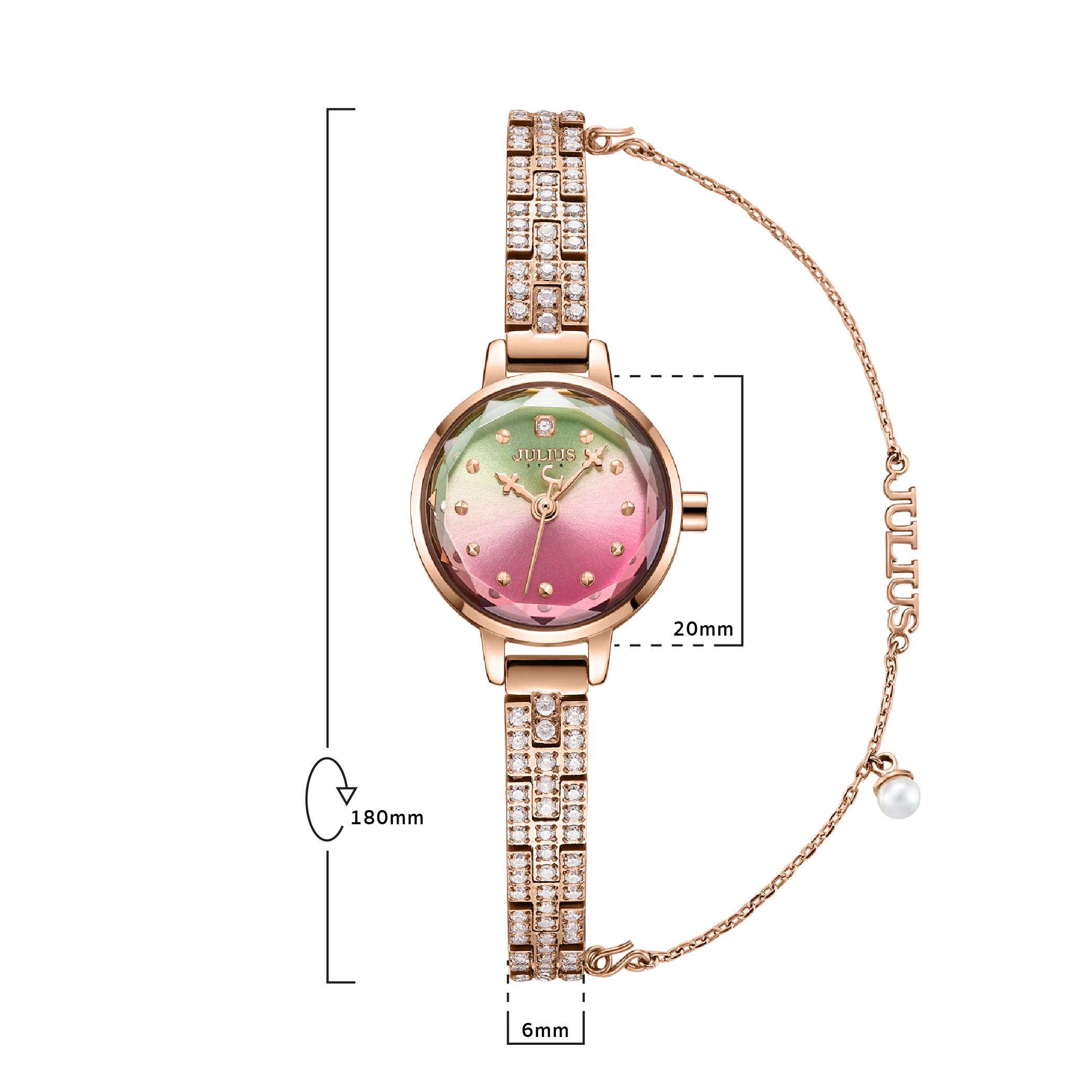 นาฬิกาข้อมือผู้หญิง JULIUS STAR 035C
