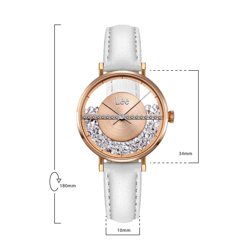 นาฬิกาข้อมือผู้หญิง LEE LEF-F118DRL7-R7