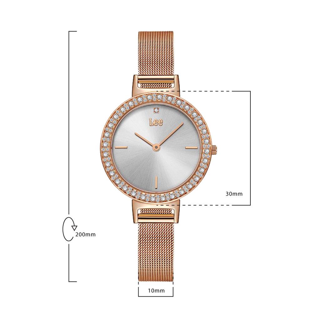 นาฬิกาข้อมือผู้หญิง LEE LEF-F119DRDR-8R