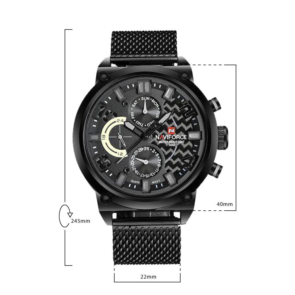นาฬิกาข้อมือผู้ชาย NAVIFORCE NF9068S A